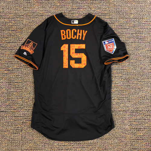 Photo of 2018 San Francisco Giants - 2018 Team Issued Spring Training Jersey - #15 Bruce Bochy