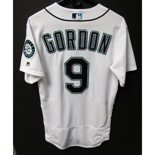 Photo of Dee Gordon Game-Used White Jersey - July 21, 2018