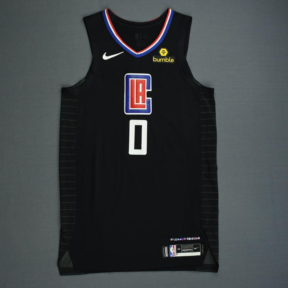 Sindarius Thornwell - Los Angeles Clippers - 2019 NBA Playoffs - Game-Worn Black Statement Edition Jersey