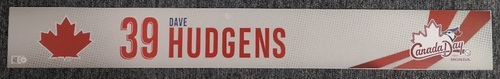 Photo of Authenticated Game Used Canada Day Locker Tag - #39 Dave Hudgens (July 1, 19)
