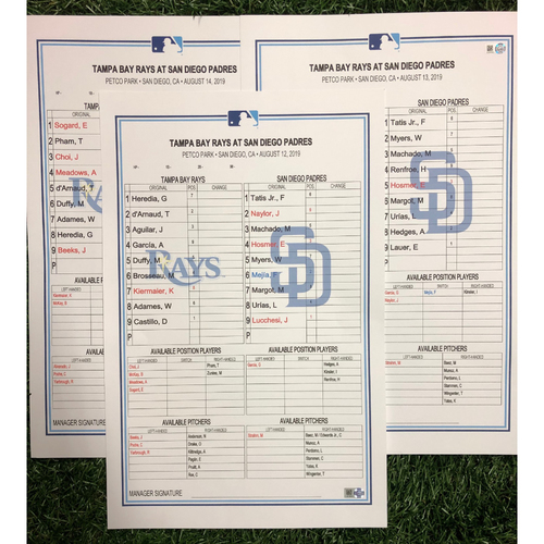 Photo of Replica LineUp Cards: August 12-14, 2019 at SD