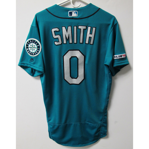 Photo of Mallex Smith Game-Used Green Jersey. 6-21-2019 - Size 40