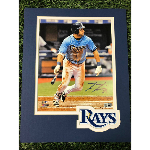 Photo of Rays Baseball Foundation: Kevin Kiermaier Batting Autographed Logo Mat Photo
