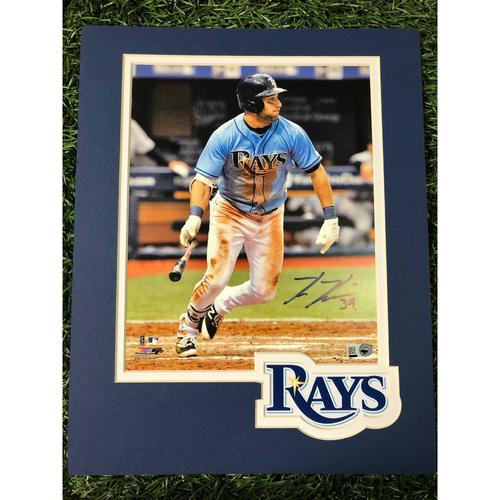 Photo of Rays Baseball Foundation: Kevin Kiermaier Batting Autographed Logo Mat Photo