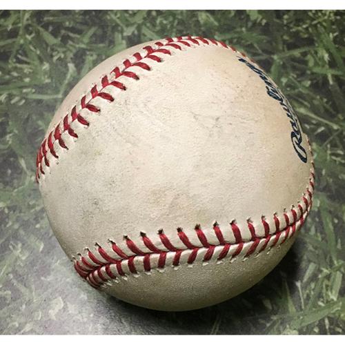 Photo of Game-Used Baseball SD@MIL 09/19/19 - Josh Hader - Manuel Margot: Foul