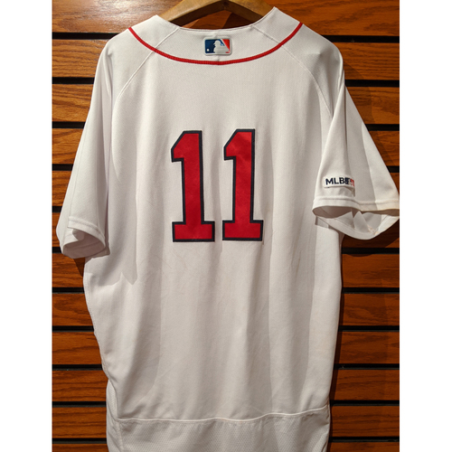Rafael Devers Game Used Home White Jersey
