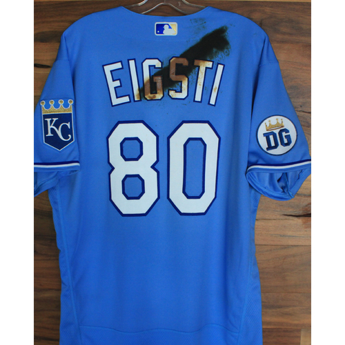 Photo of Alex's Lemonade Stand Foundation: Game-Used Ryan Eigsti Jersey (Size 46 - 9/26/20 DET @ KC)