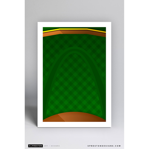 Photo of Busch Stadium - Minimalist Ballpark Art Print by S. Preston - St. Louis Cardinals