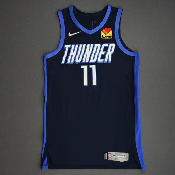 Image of Theo Maledon - Oklahoma City Thunder - Game-Worn Earned Edition Jersey - Scored Team-High 22 Points - 2020-21 NBA Season