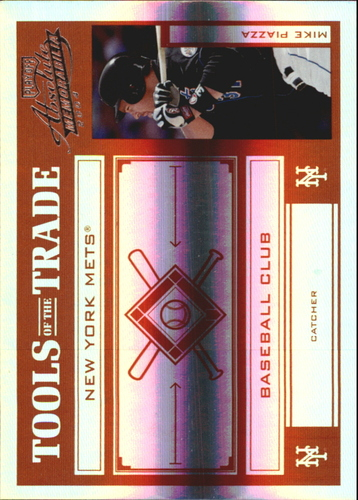 Photo of 2004 Absolute Memorabilia Tools of the Trade Red Spectrum #101 Mike Piazza Mets