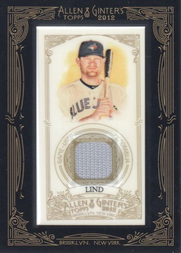 Photo of 2012 Topps Allen and Ginter Relics #AL Adam Lind