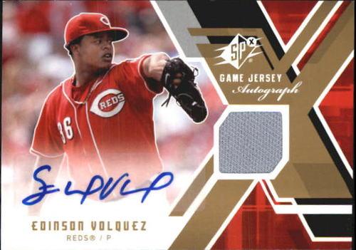 Photo of 2009 SPx Game Jersey Autographs #GJAEV Edinson Volquez