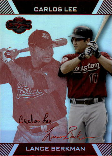 Photo of 2007 Topps Co-Signers Hyper Silver Red #54B Lance Berkman w/Carlos Lee