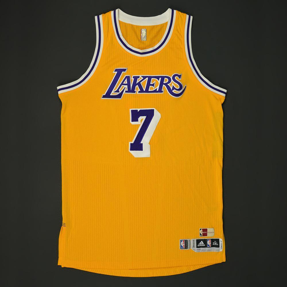c8c2f985e Larry Nance Jr. - Los Angeles Lakers - Game-Worn Hardwood Classics 1987-