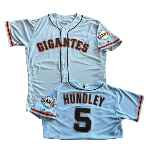 3a5104f5727 San Francisco Giants - 2017 Gigantes Road Jerseys - Game-Used on Cinco de  Mayo