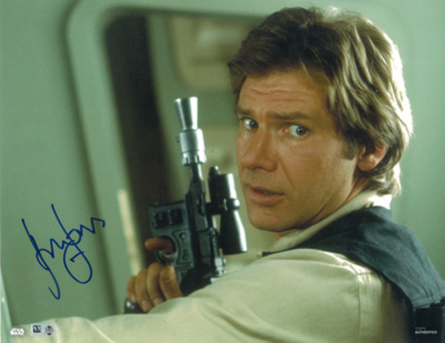 Harrison Ford as Han Solo 11x14 Autographed in Blue Ink Photo