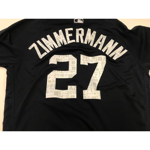 Photo of Game-Used Home Spring Training Jersey: Jordan Zimmermann