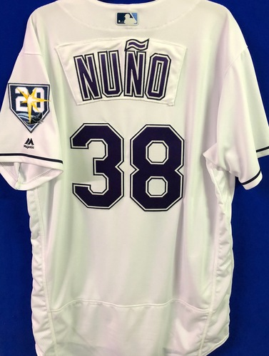 Photo of 20th Anniversary Team Issued Devil Rays Jersey: Vidal Nuno