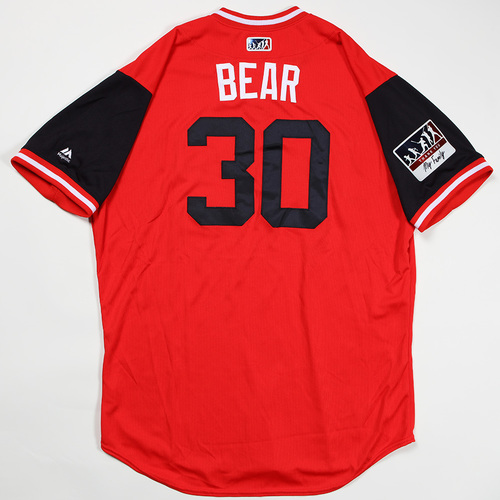 "Photo of Koda""Bear""Glover Washington Nationals Game-Used Jersey 2018 Players' Weekend Jersey"