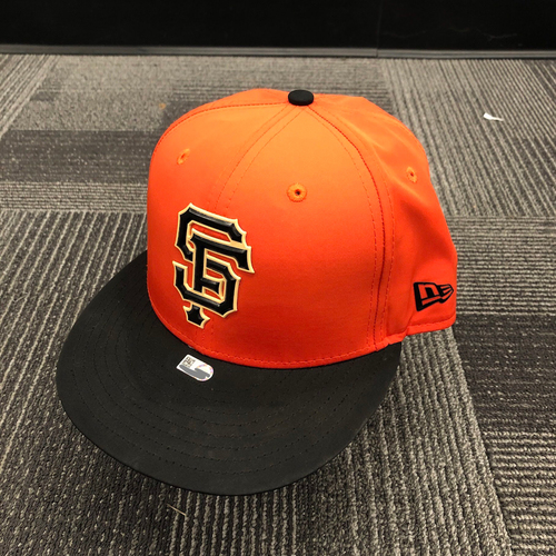 Photo of 2018 Team Issued Orange Batting Practice Cap - #22 Andrew McCutchen - Size 7 3/8