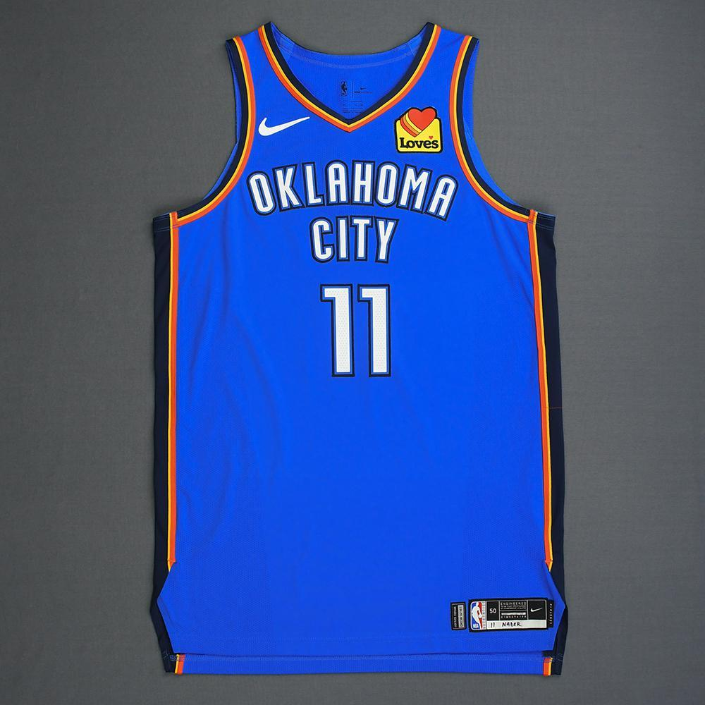 Abdel Nader - Oklahoma City Thunder - Game-Worn Icon Edition Jersey - Dressed, Did Not Play - 2019 Playoffs
