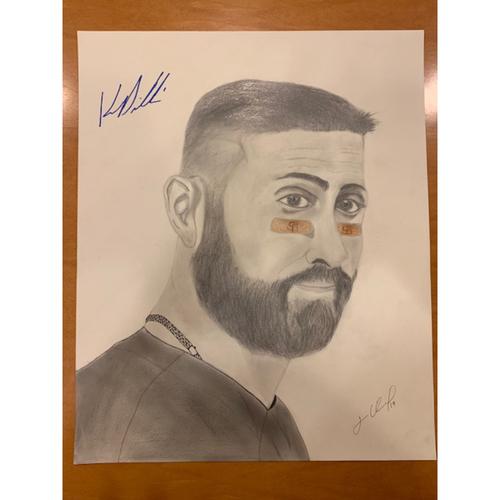 Photo of Giants End of Season Auction: Kevin Pillar Autographed Portrait Sketch