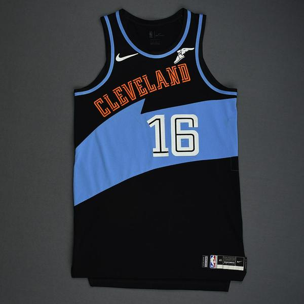 Image of Cedi Osman - Cleveland Cavaliers - Game-Worn Classic Edition 1994-96 Road Jersey - 2019-20 Season