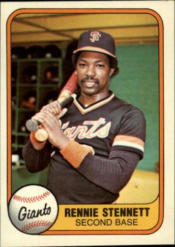 Photo of 1981 Fleer #438 Rennie Stennett
