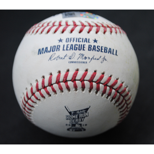 Photo of 2018 Home Run Derby (07/16/18) - Game-Used Baseball - Rhys Hoskins (Philadelphia Phillies) - Round 2, Out