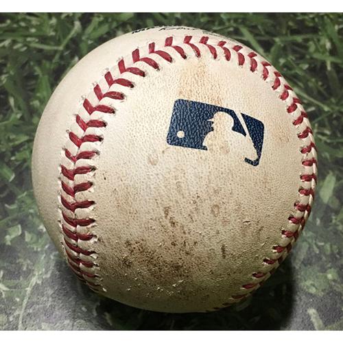 Photo of Game-Used Baseball CHC@MIL 09/23/17 - Kyle Hendricks - Brett Phillips: Single