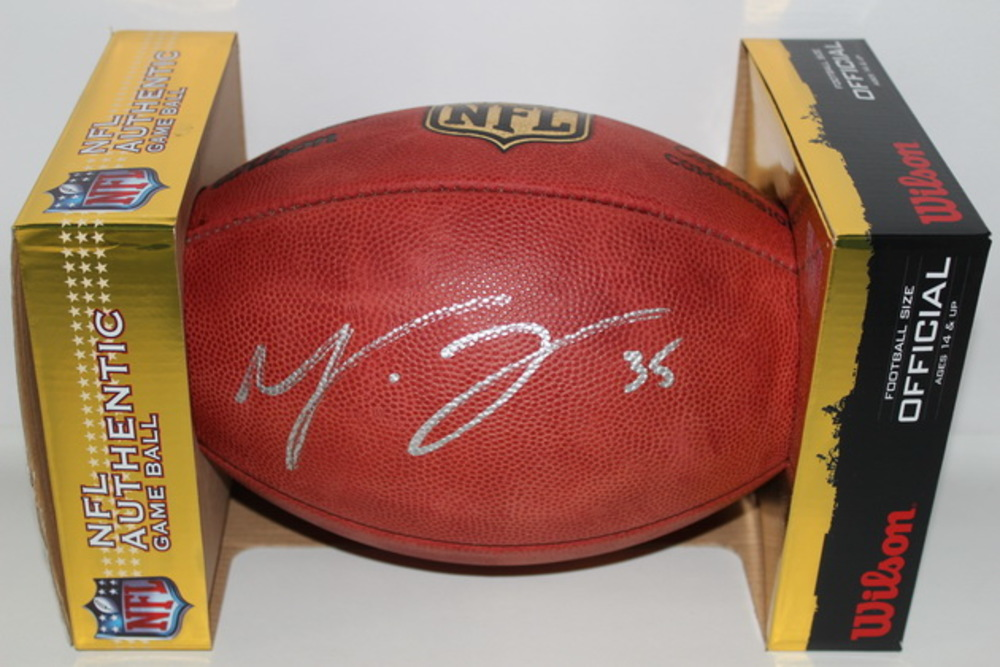 PANTHERS - MIKE TOLBERT SIGNED AUTHENTIC FOOTBALL
