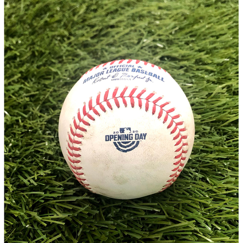 Photo of 2020 Opening Day: Game-Used Baseball: Gio Urshela Single