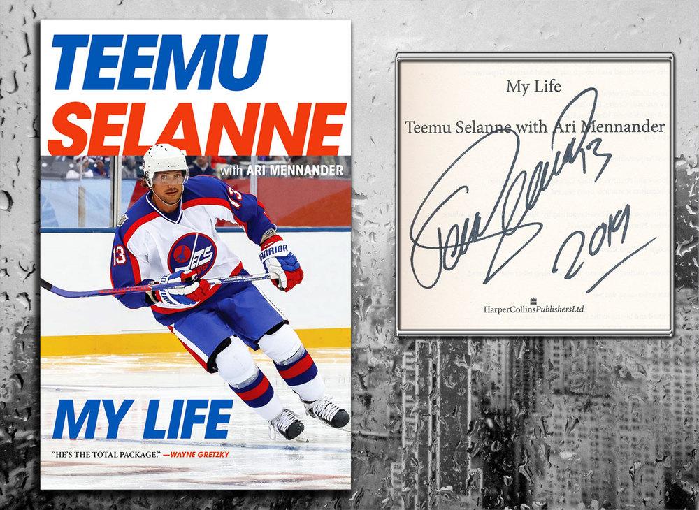 Teemu Selanne MY LIFE Signed Hardcover Book