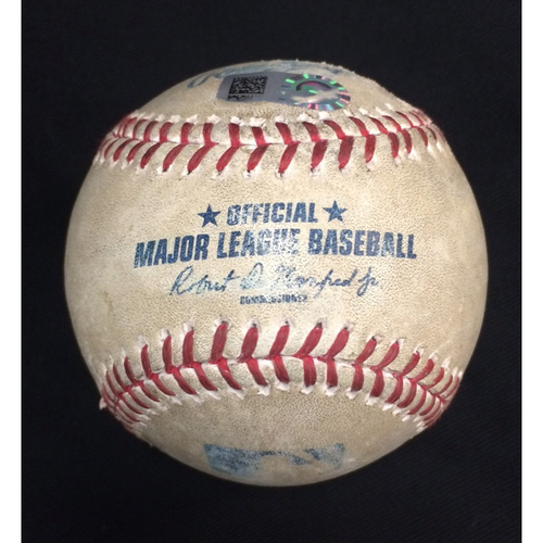 Photo of Game-Used Baseball from August 16, 2020: White Sox Tie MLB Record with Four(4) Home Runs Back to Back