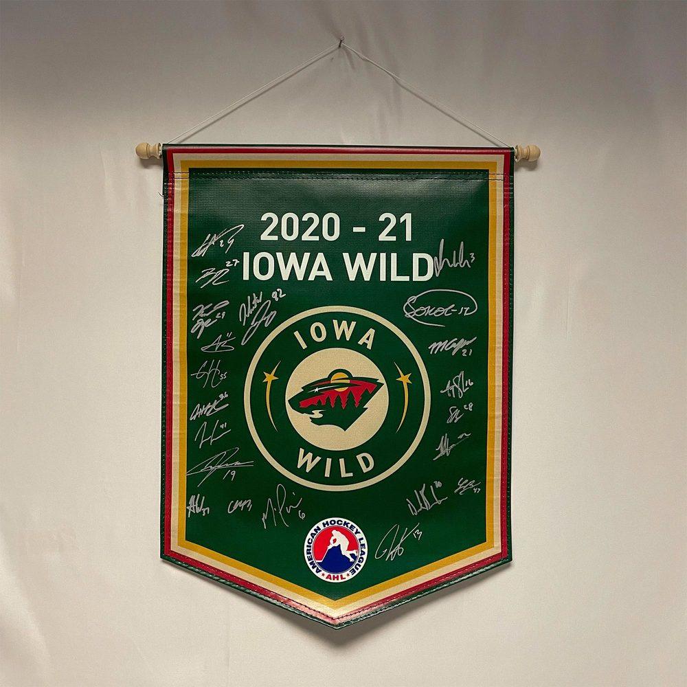 2020-21 Iowa Wild Team-Signed Banner