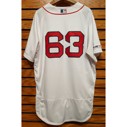 Photo of Darwinzon Hernandez #63 Game Used Home White Jersey