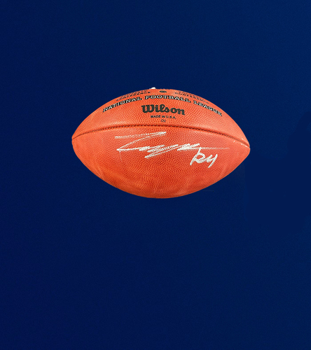 """Photo of Taylor Rapp Signed Authentic """"The Duke"""" Football"""