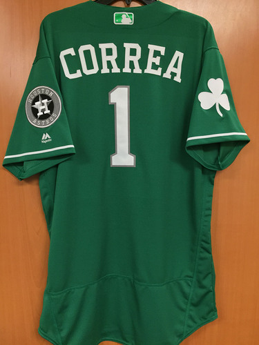 Auctions Patrick's Correa Mlb St Jersey Day Game-used Carlos