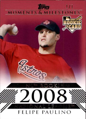 Photo of 2008 Topps Moments and Milestones Red #183-1 Felipe Paulino