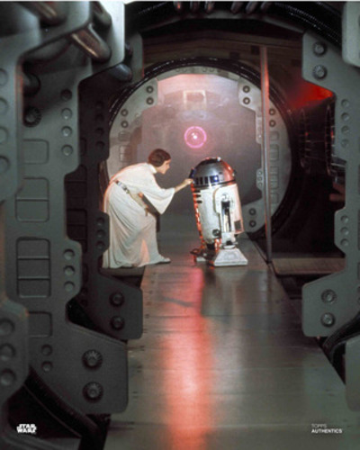 Princess Leia Organa and R2-D2