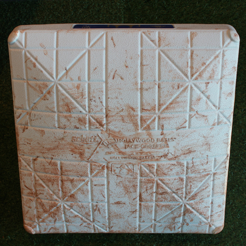 Game-Used 3rd Base: Albert Pujols 617th Career Homerun (Innings 1-5 - LAA @ KC - 4/13/18)