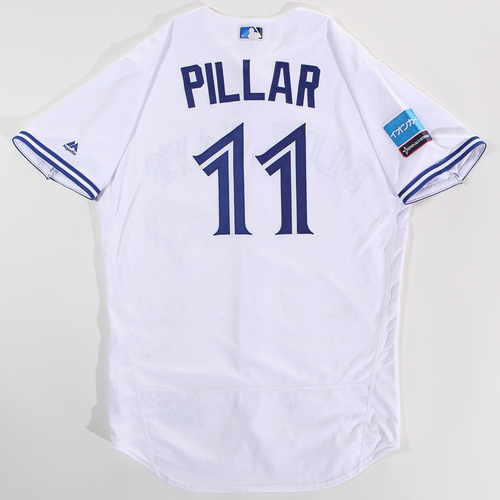 Photo of 2018 Japan Series Game-Used Jersey - Kevin Pillar - Size 44