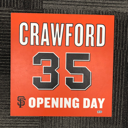 Photo of 2016 Opening Day Ceremony Disk - #35 Brandon Crawford