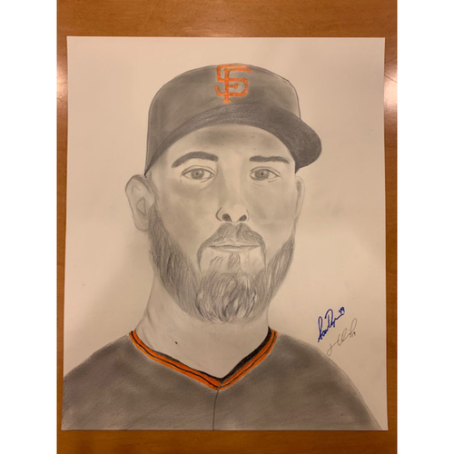Photo of Giants End of Season Auction: Sam Dyson Autographed Portrait Sketch