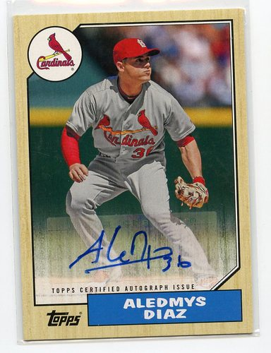 Photo of 2017 Topps '87 Topps Autographs #1987AAD Aledmys Diaz