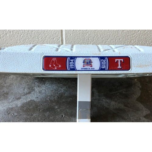 Photo of Game-Used Base - 9/24/19 BOS @ TEX - Second Base Used 4th-6th Innings