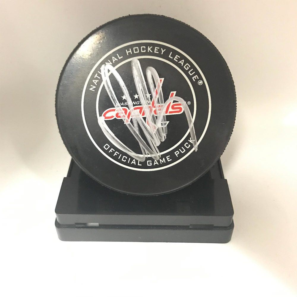 Washington Capitals Game Puck Signed by #8 Alex Ovechkin