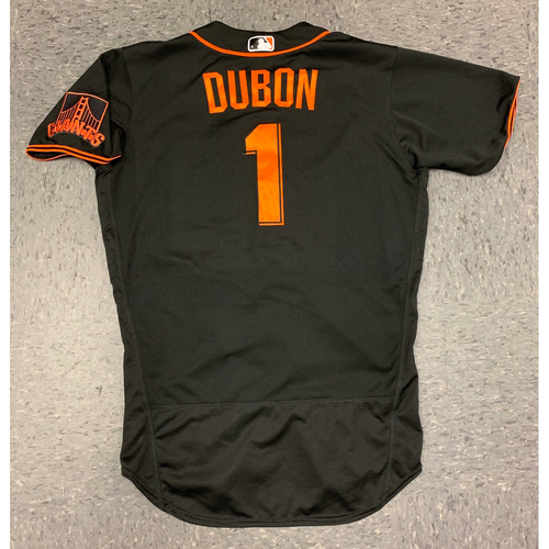 Photo of 2020 Game Used Spring Training Jersey worn by #1 Mauricio Dubon on 2/22 vs Los Angeles Dodgers - 2-2, HR, 2 RBI, R - Size 44