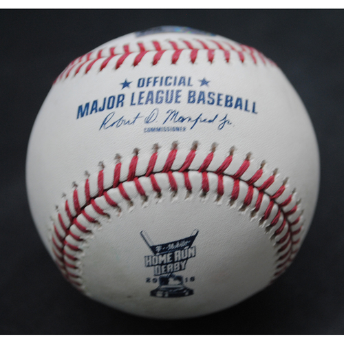 Photo of 2018 Home Run Derby (07/16/18) - Game-Used Baseball - Kyle Schwarber (Chicago Cubs) - Final Round, Out