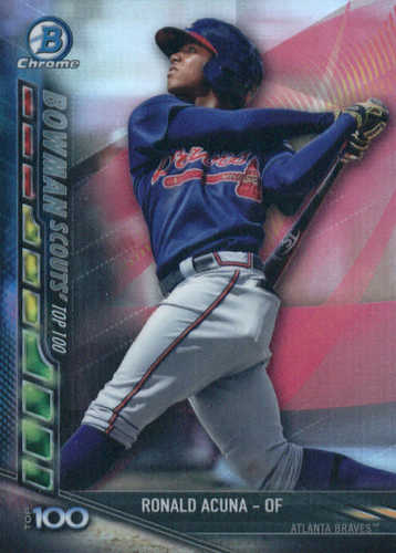 Photo of 2017 Bowman Chrome Scouts Top 100 Update #BSURA Ronald Acuna